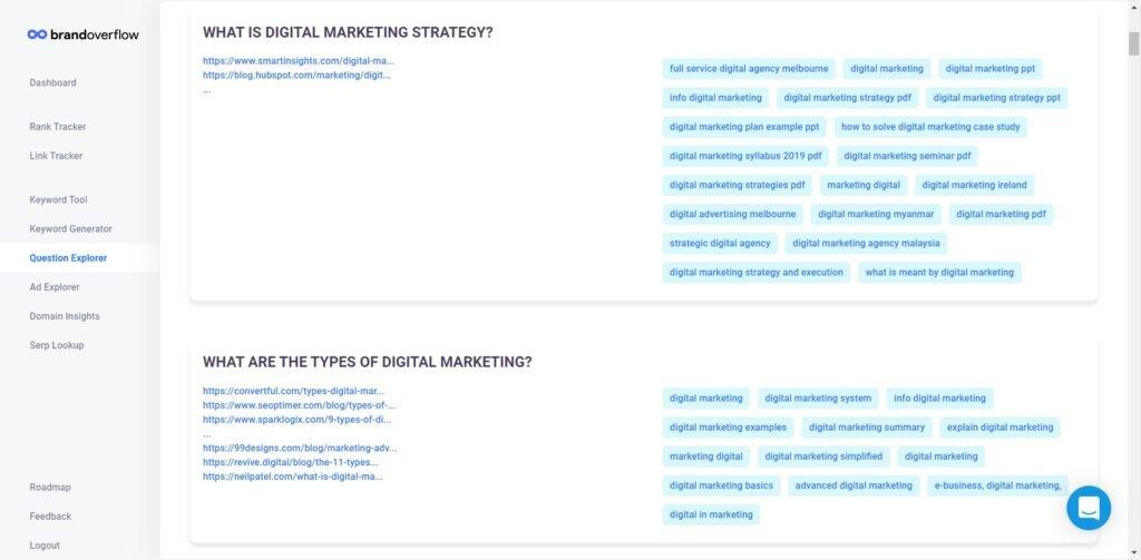 brand overflow question explorer screenshot
